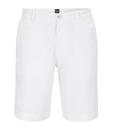 Lightweight Shorts in Italian Stretch Cotton with Overdyed Finish White