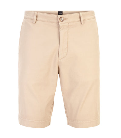 Lightweight Shorts In Italian Stretch Cotton With Overdyed Finish Light Beige