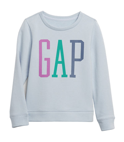 kids gap jet stream blue logo crewneck sweatshirt