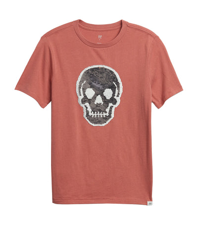gap kids earthenware red graphic t-shirt