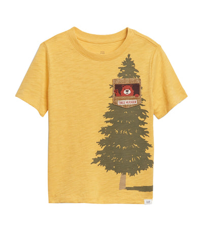 gap kids starlight gold toddler interactive pocket graphic t-shirt