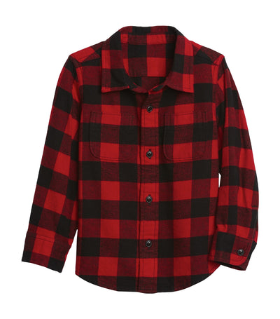 gap kids red buffalo toddler flannel shirt