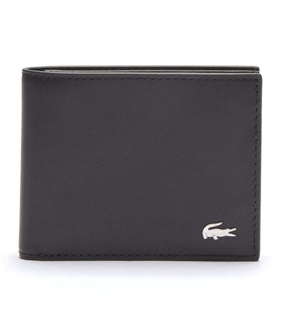 Men's Fitzgerald Billfold in Leather with ID Card Holder Black