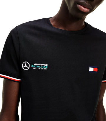 Mercedes-Benz Tipped Slim Fit T-shirt Black
