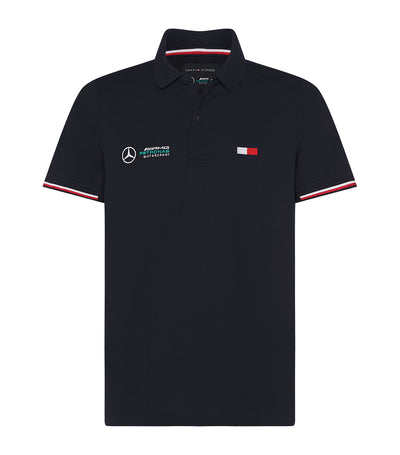 Mercedes-Benz Slim Fit Polo Desert Sky
