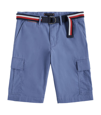 Lightweight Twill Cargo Shorts Washed Ink 431