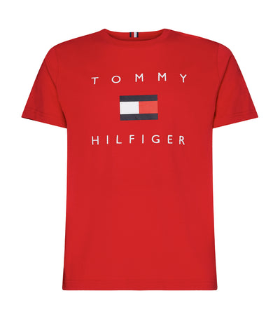 Organic Cotton Flag T-Shirt Primary Red