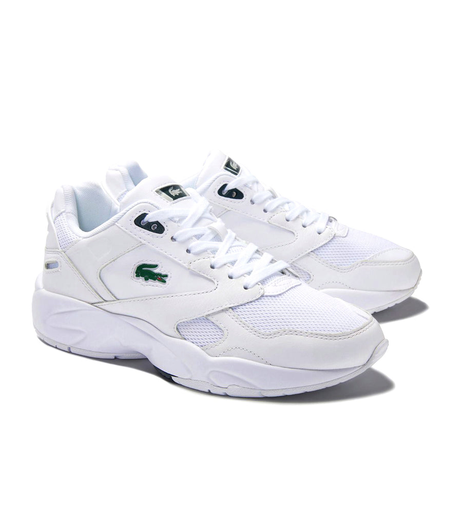 Women's Storm 96 Lo 0320 2 Textile Sneakers White-Dark Green