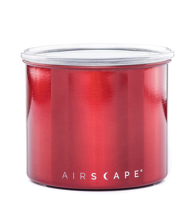 "airscape® stainless steel coffee and food storage canister - 4"" candy apple red"