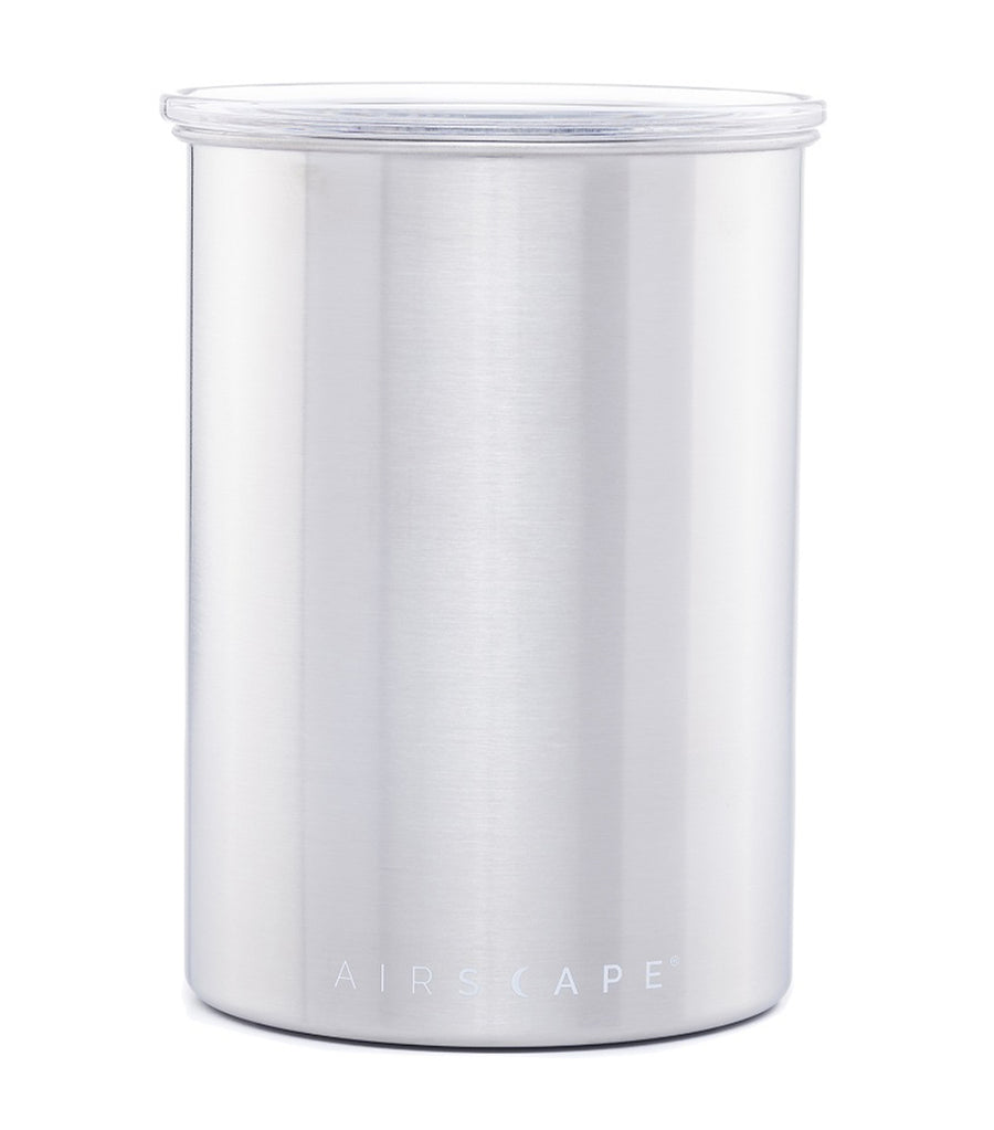 "airscape® stainless steel coffee and food storage canister - 7"" brushed steel"
