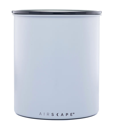 "airscape® stainless steel coffee and food storage canister - kilo 8"" ash (matte)"