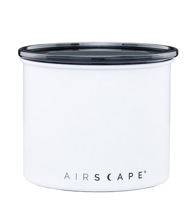 "airscape® stainless steel coffee and food storage canister - 4"" chalk (matte)"