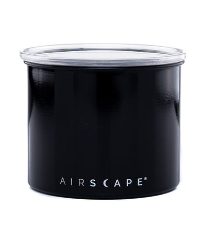 "airscape® stainless steel coffee and food storage canister - 4"" obsidian"