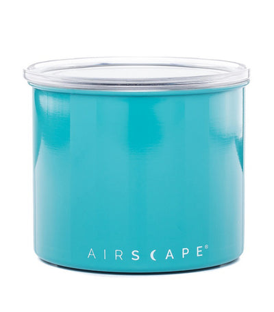"airscape® stainless steel coffee and food storage canister - 4"" turquoise"