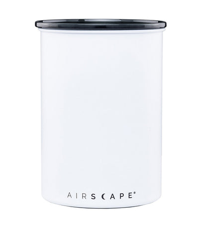 "airscape® stainless steel coffee and food storage canister - 7"" chalk (matte)"