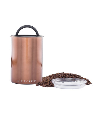 "airscape® stainless steel coffee and food storage canister - 7"" mocha"