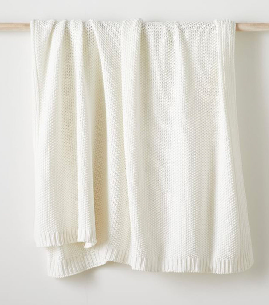 west elm Cotton Knit Throw