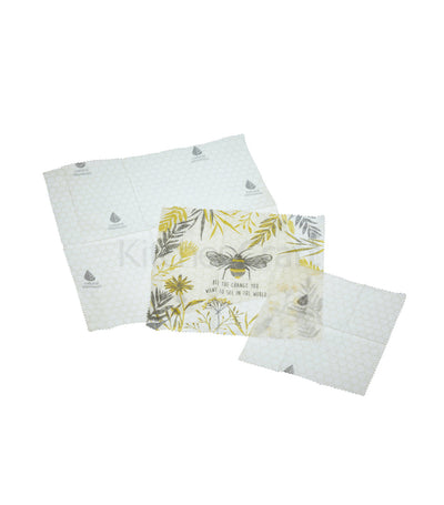 Natural Elements Eco-Friendly Set of Three Beeswax Food Wraps