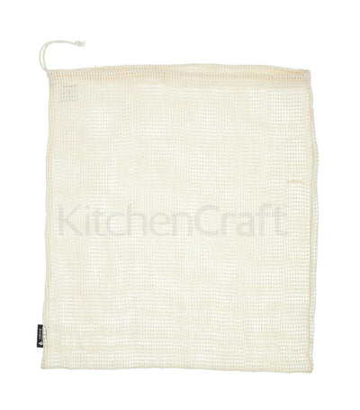 Natural Elements Eco-Friendly Set of Three Drawstring Produce Bags