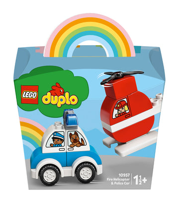 lego® duplo® fire helicopter & police car