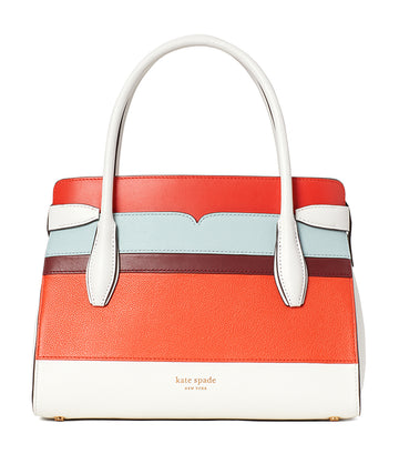 Toujours Stripe Medium Satchel Optic White Multi