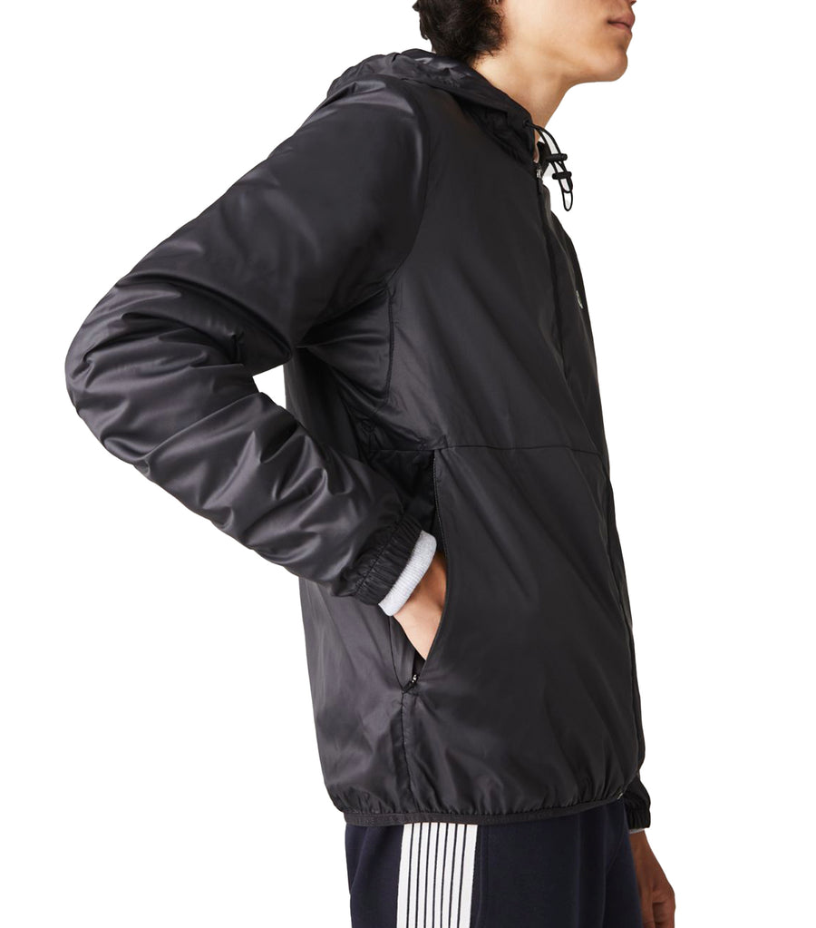 Men's SPORT Hooded Water-Resistant Jacket Black