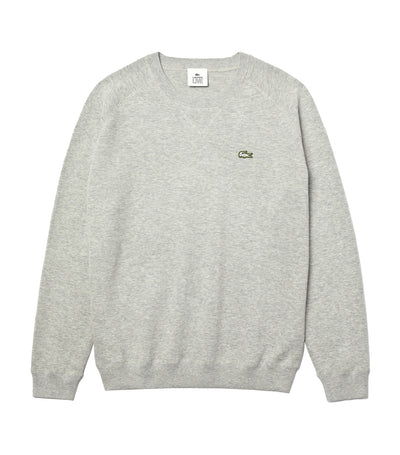 Men's LIVE Cotton Blend Crew Neck Sweater Silver Chine