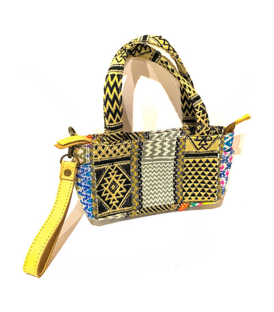 Sashi Pouch Blue/Black/Gold