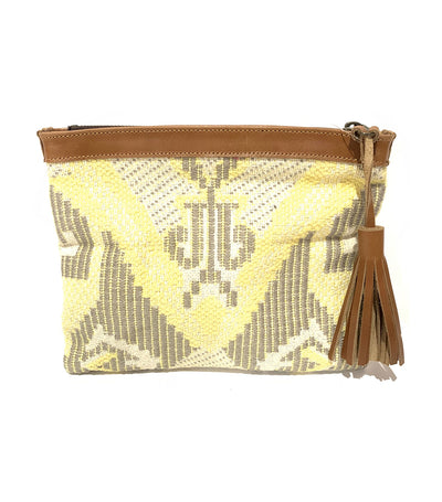 Handloom Pouch Yellow/Tan