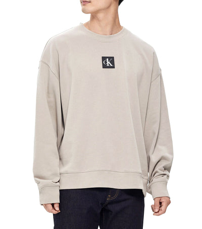CK One Relaxed Fit Graphic Sweatshirt Gray