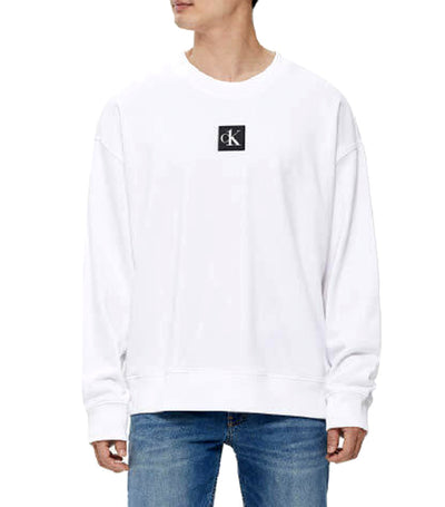 CK One Relaxed Fit Graphic Sweatshirt White