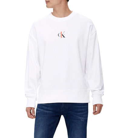 CK One Relaxed Fit Sweatshirt White