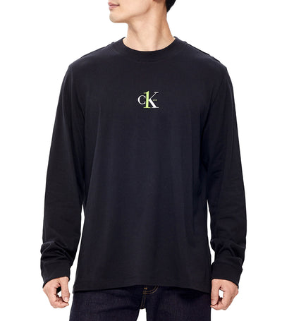 Unisex CK1 Graphic Long Sleeve T-Shirt Black