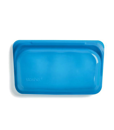 stasher reusable silicone snack bag - blueberry