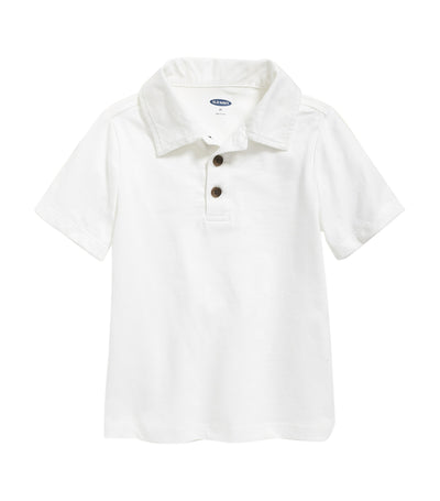 old navy toddler jersey short-sleeve polo - calla lilies