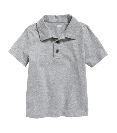 old navy toddler jersey short-sleeve polo - heather gray