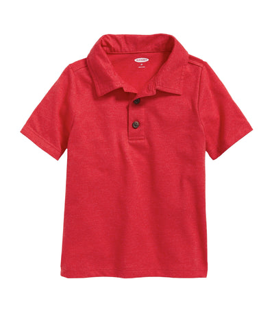old navy toddler jersey short-sleeve polo - robbie red