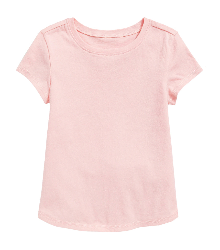old navy toddler jersey crew-neck tee - blush hue