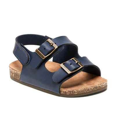 old navy toddler faux-leather double-buckle sandals - navy