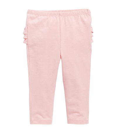 old navy toddler ruffle-trim leggings - practically pink