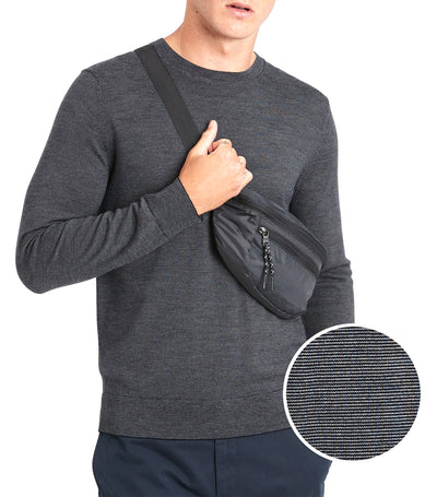 Italian Merino Stripe Sweater Navy Combo
