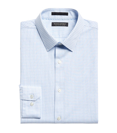 Slim-Fit Non-Iron Dress Shirt Light Blue