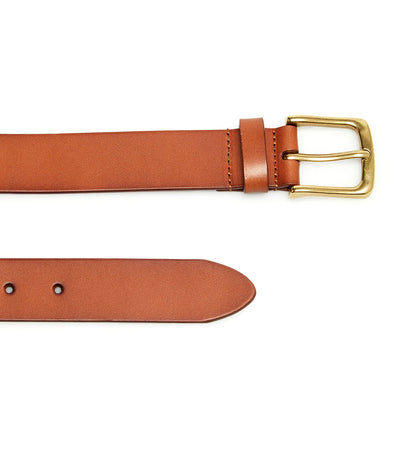 Denim Leather Belt Light Brown