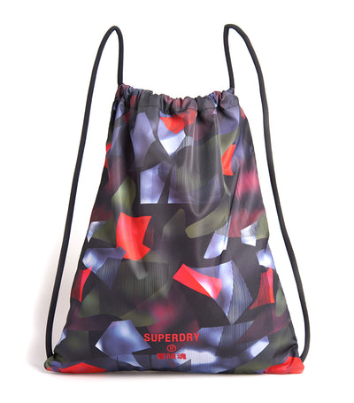 Drawstring Bag Cubism Print