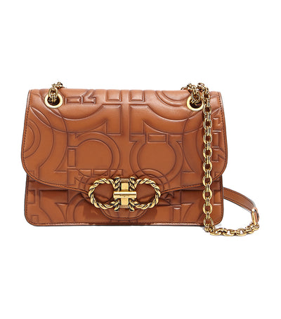 Quilted Gancini Flap Bag Sella