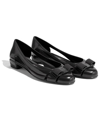 Jelly Ballet Flat With Vara Bow Black