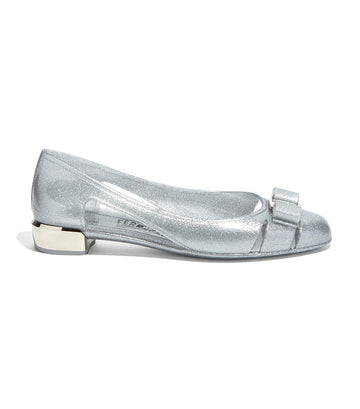 Jelly Ballet Flat With Vara Bow Silver