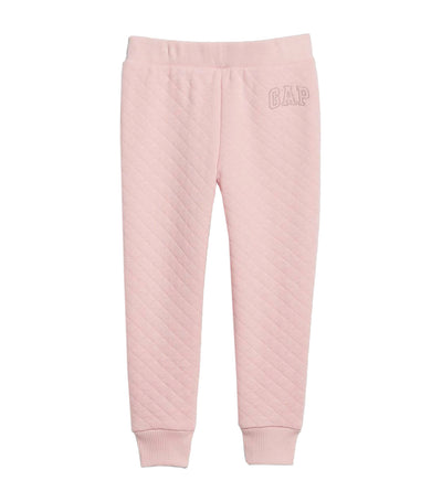 Toddler Quilted Pull-On Pants - Pure Pink