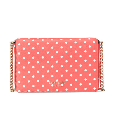 Spencer Dots Chain Wallet Peach Melba Multi