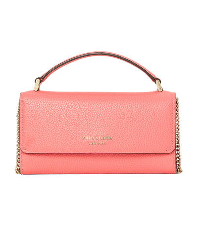 Roulette Top Handle Crossbody Peach Melba